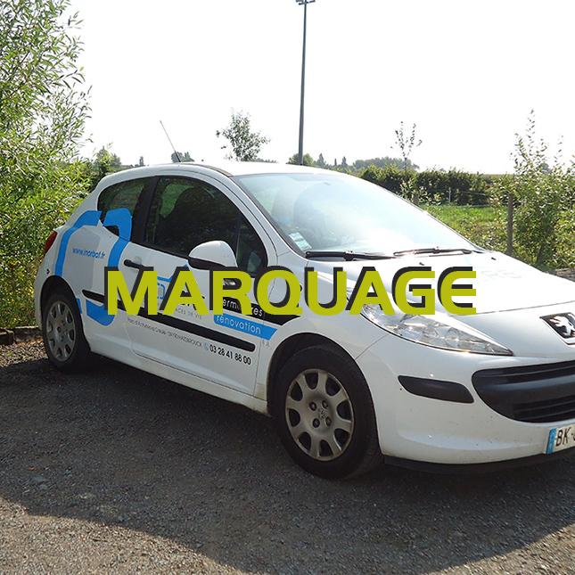 marquage véhicule hazebrouck