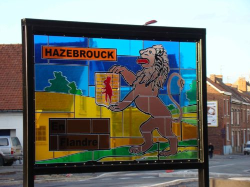 Bi-mât vitrail Hazebrouck