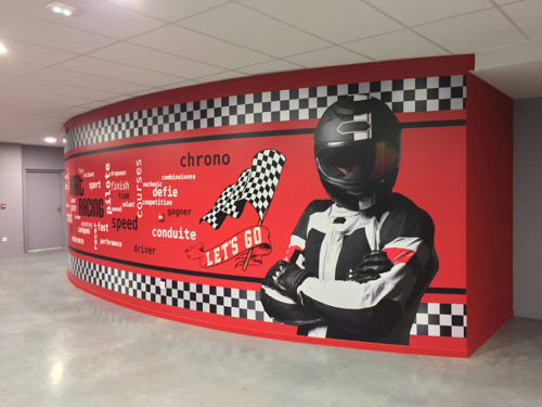 Décor mural karting