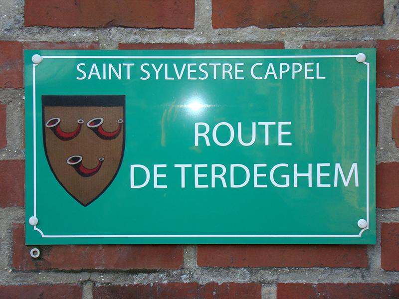 plaque de rue saint sylvestre cappel
