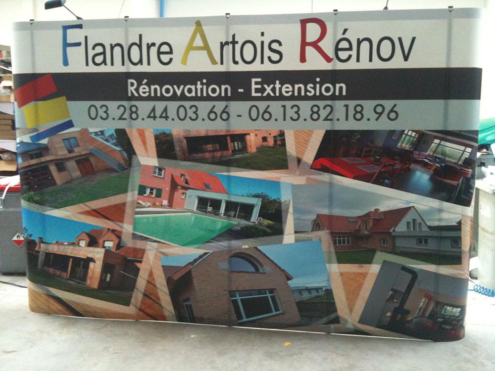 stand parapluie faux mur rénovation extension hazebrouck