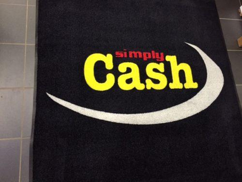 Tapis personnalisé Simply cash