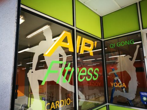 Décor vitre air fitness