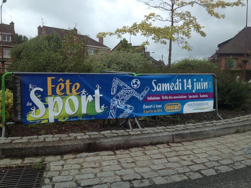 bâche évènement sportif fête des sports Hazebrouck