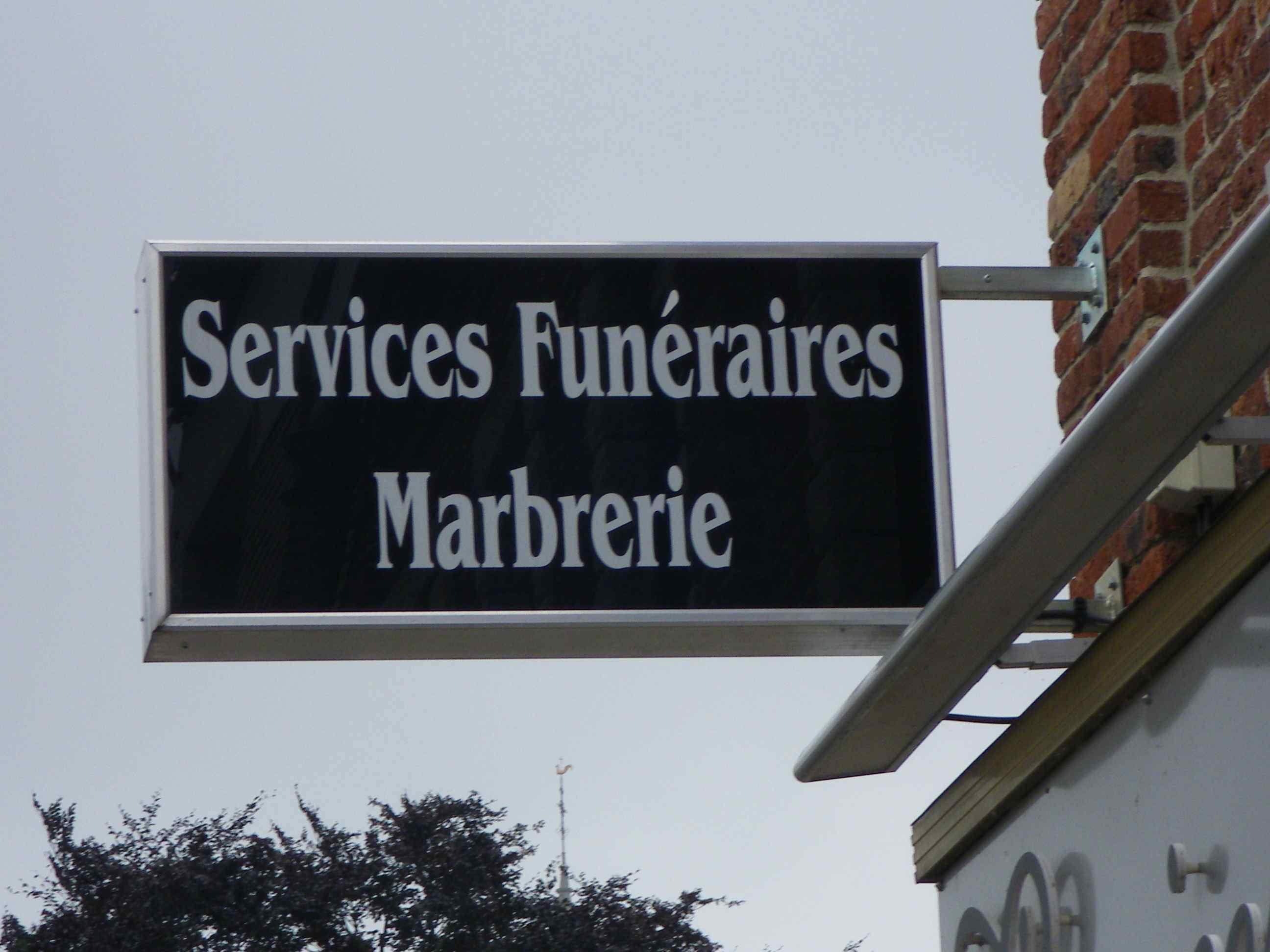 caisson services funéraires marbrerie