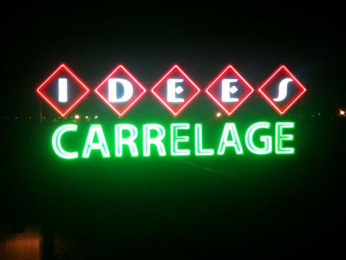 IDEES Carrelage enseigne  lumineuse