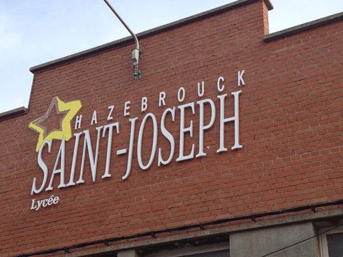 Lettres découpées Saint Joseph