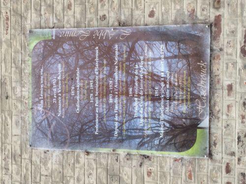 Plaque Abbe Hazebrouck