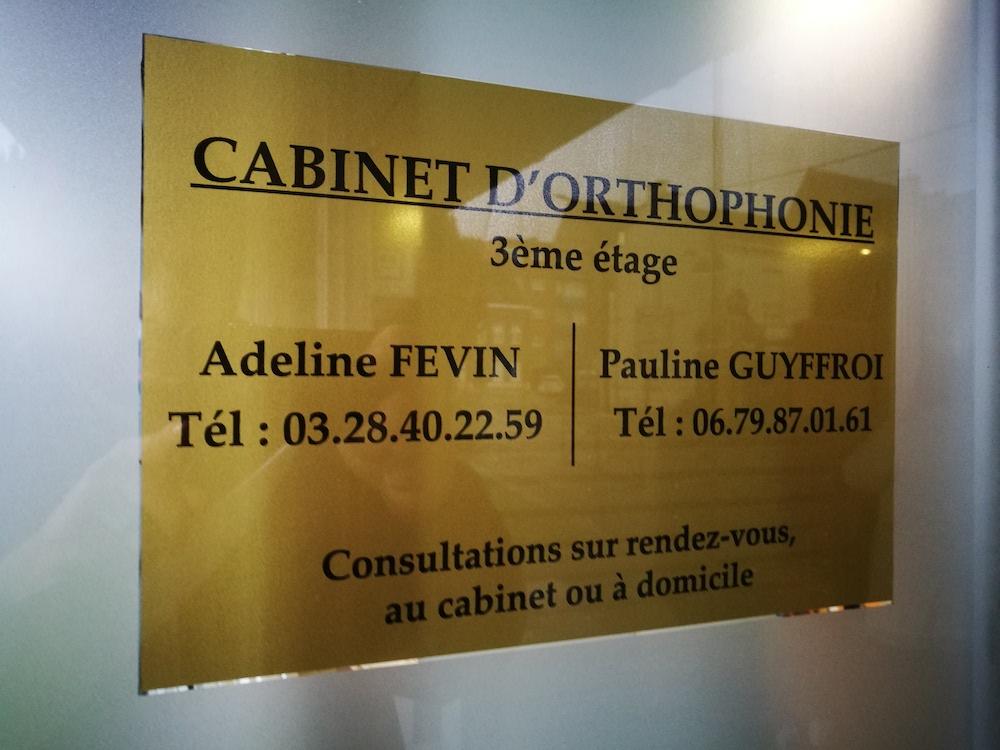plaque de cabinet d'orthophoniste