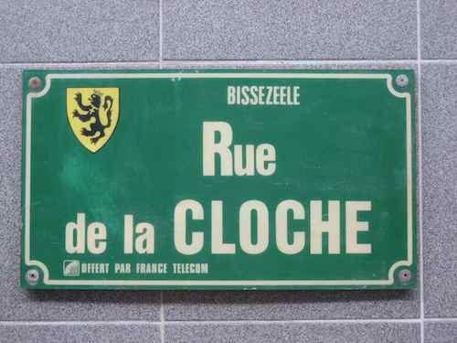 plaque de rue Bissezeele