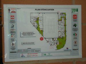 plaque plan d'évacuation