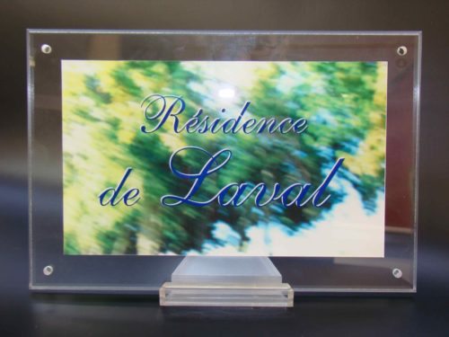 Plaque Résidence de Laval