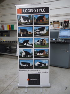 impression roll-up agence immobilier