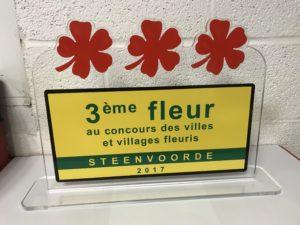 Trophée du Concours des villages fleurs de STEENVOORDE