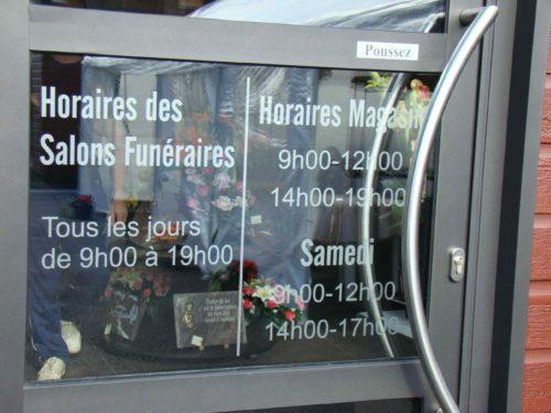 Vitres salons funéraires